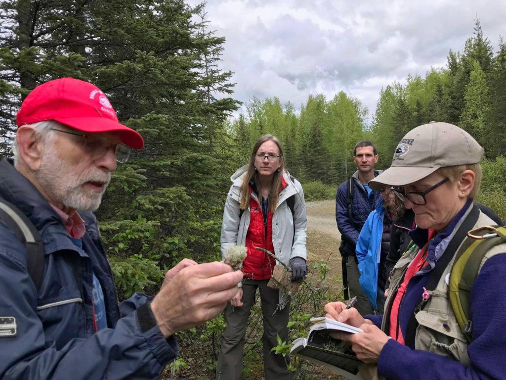 photo of lichen identification workshop